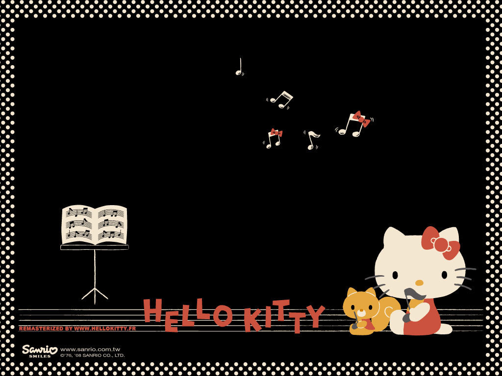 Black-Hello-kitty-music-wallpapers