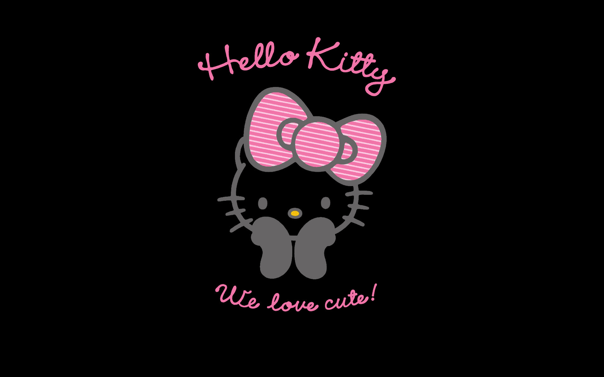 free-black-hello-kitty-wallpapers
