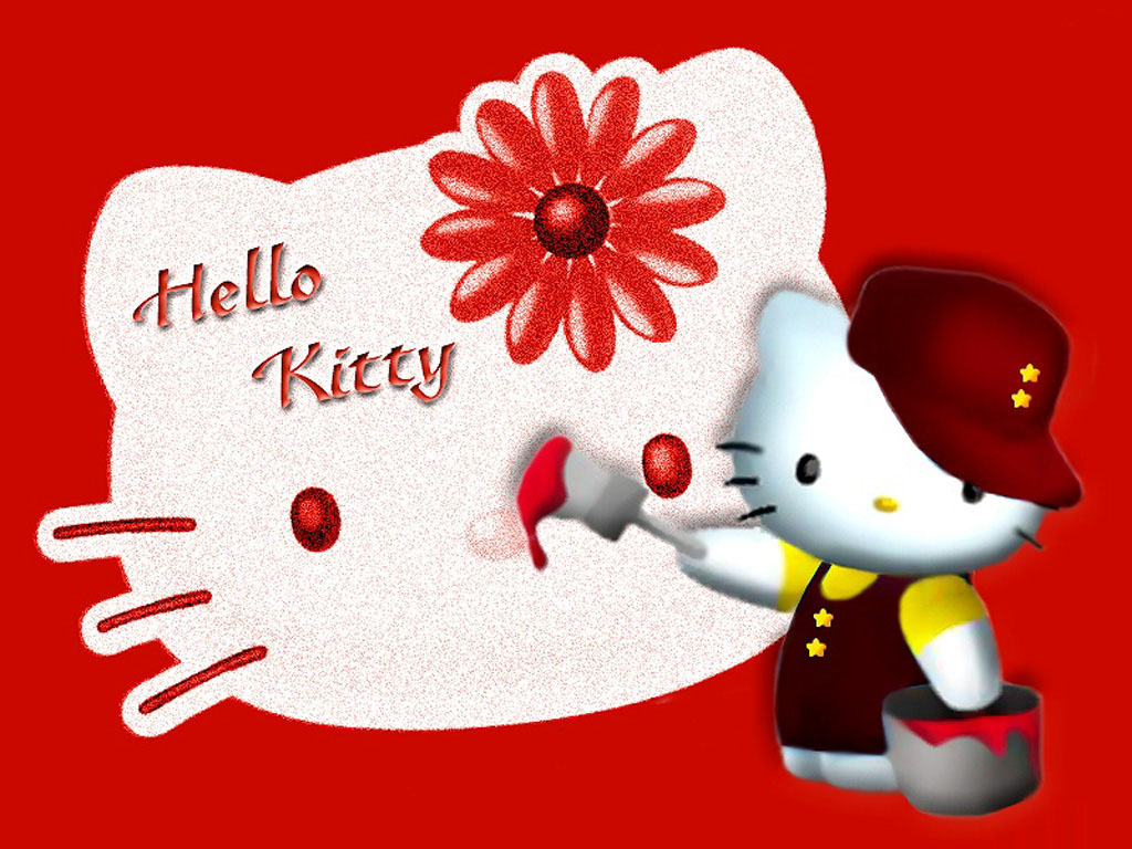 hello-kitty-is-a-painter