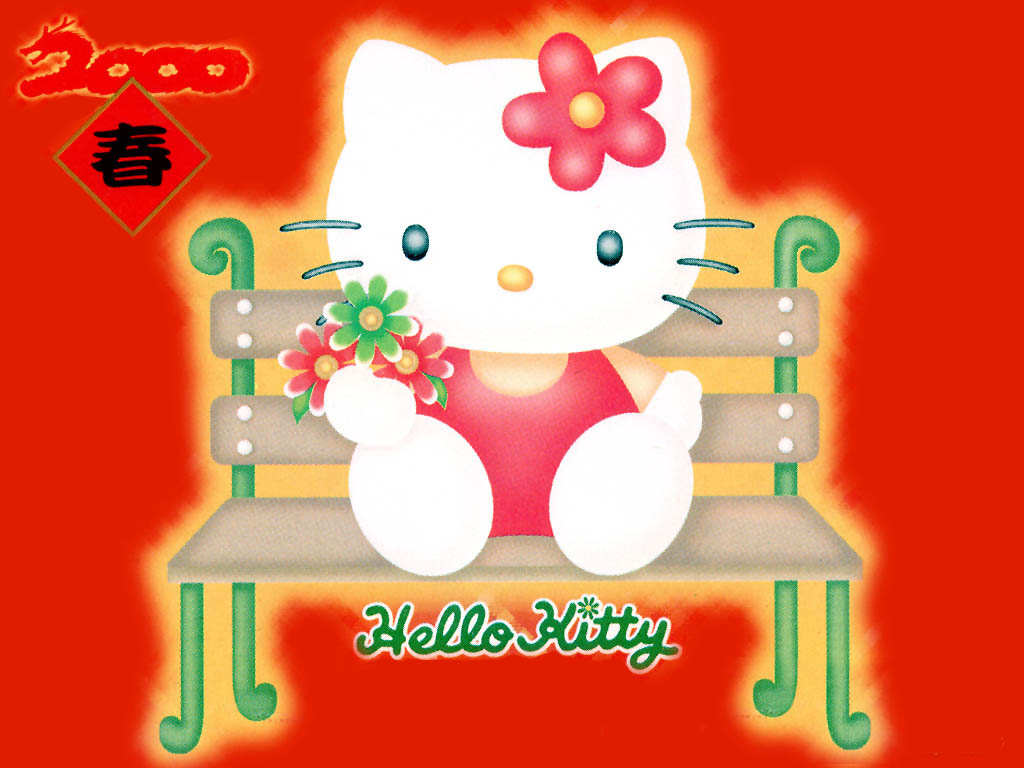 red-hello-kitty-on-the-chair-wallpapers