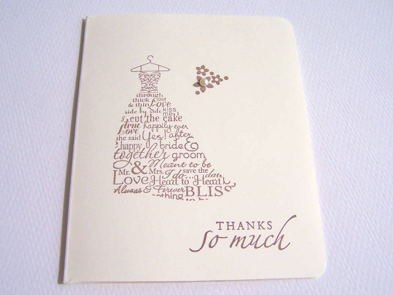 Wedding Gift Thank You Sayings : Wedding Thank you Card Thank You Cards Memory Moments