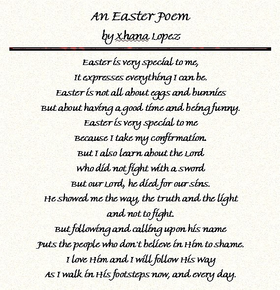 easter poems for kids - photo #36