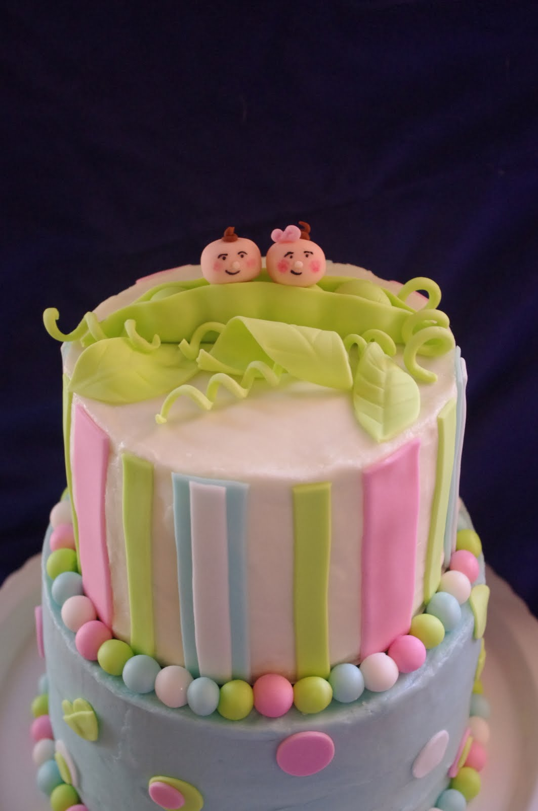 Marvelous Baby Shower Cake Twins Part - 5: Baby-shower-cakes-for-twins-boys-and-girls