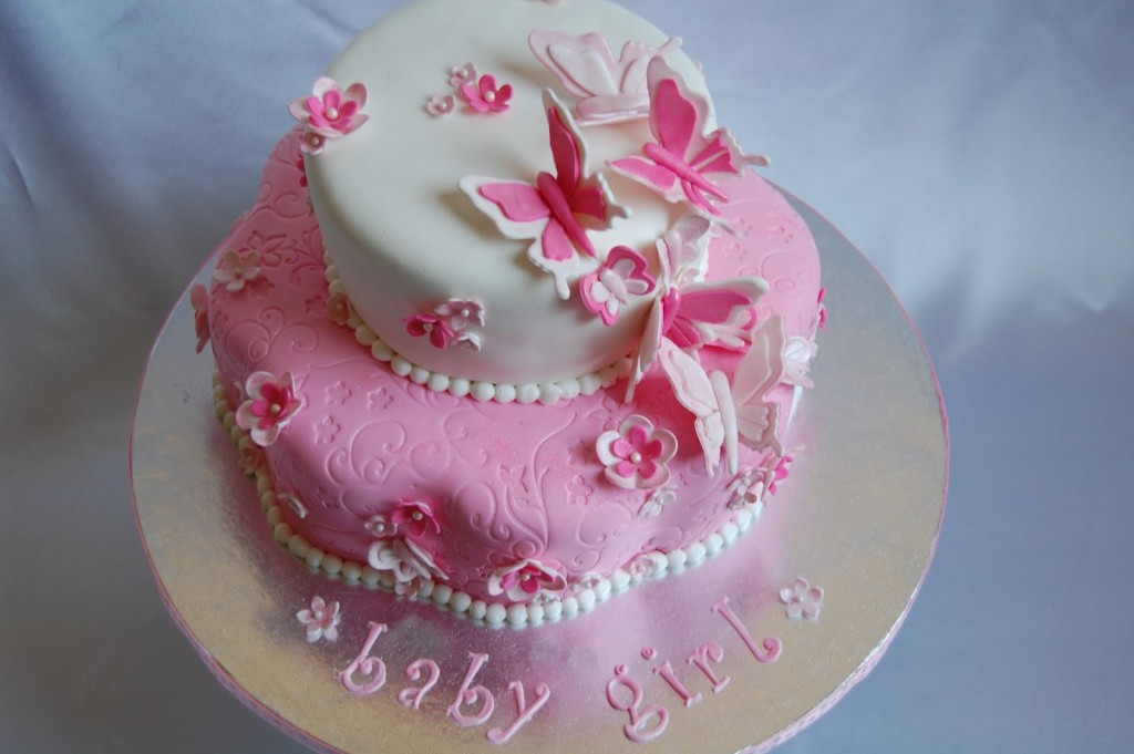 baby-shower-cakes-with-flowers-butterflies