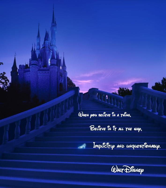 Walt Disney Quote Believe