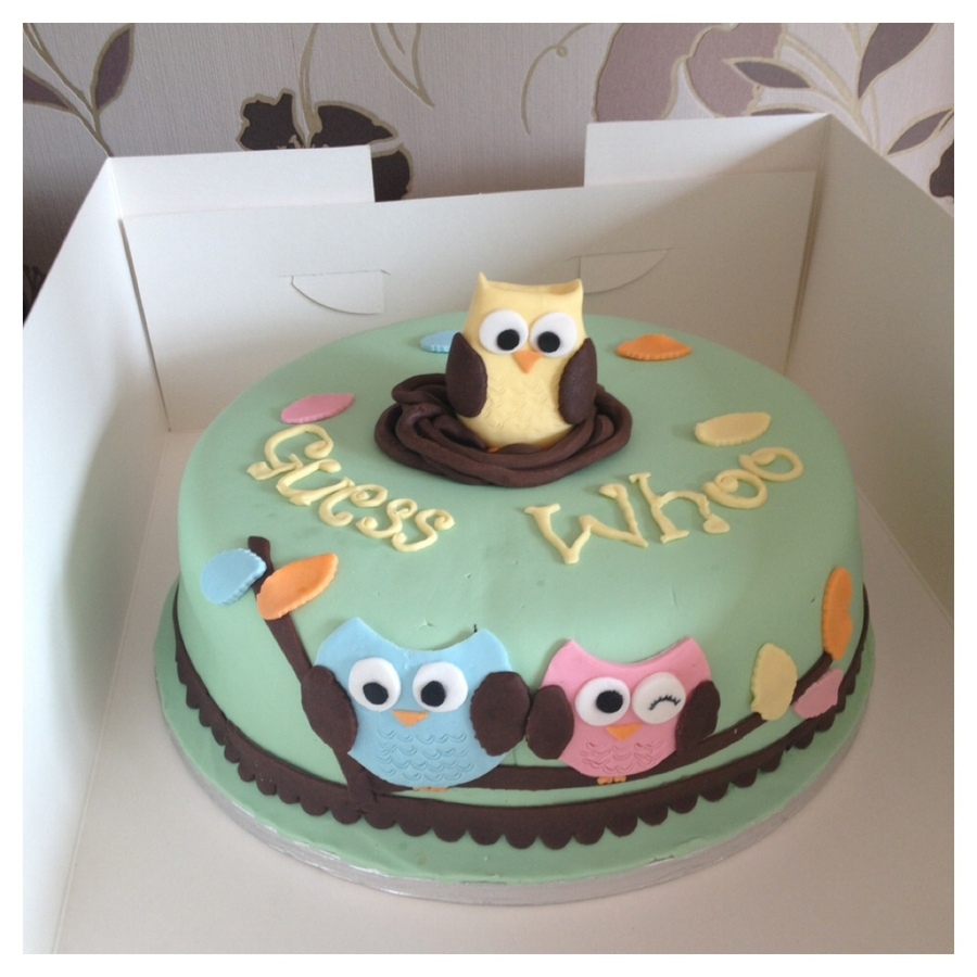 owl-baby-shower-cake