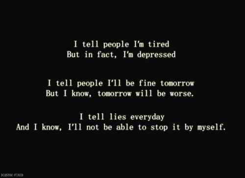 things stop feeling depressed even just little