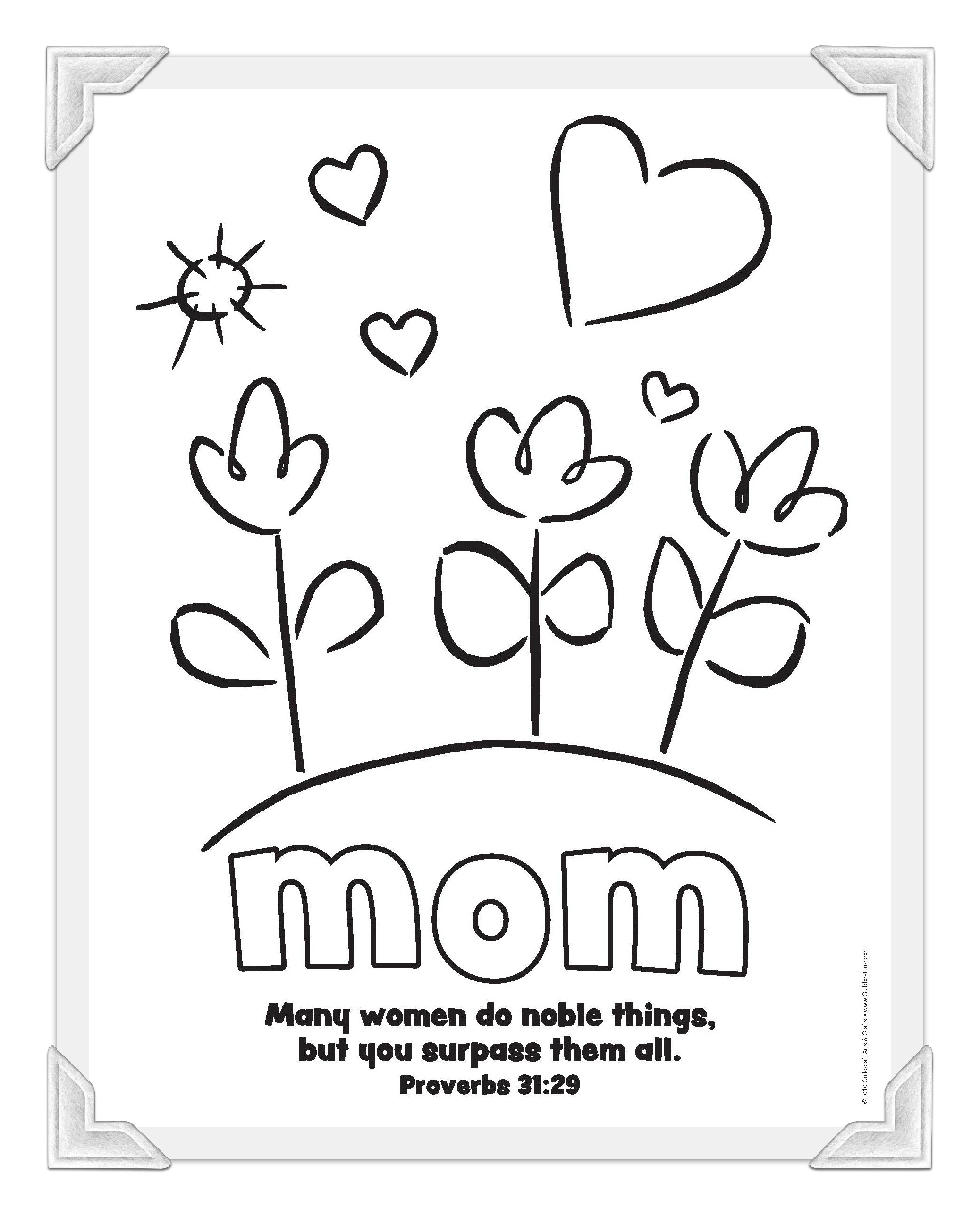 Coloring sheets for mothers day - Mothers Day Coloring Sheets