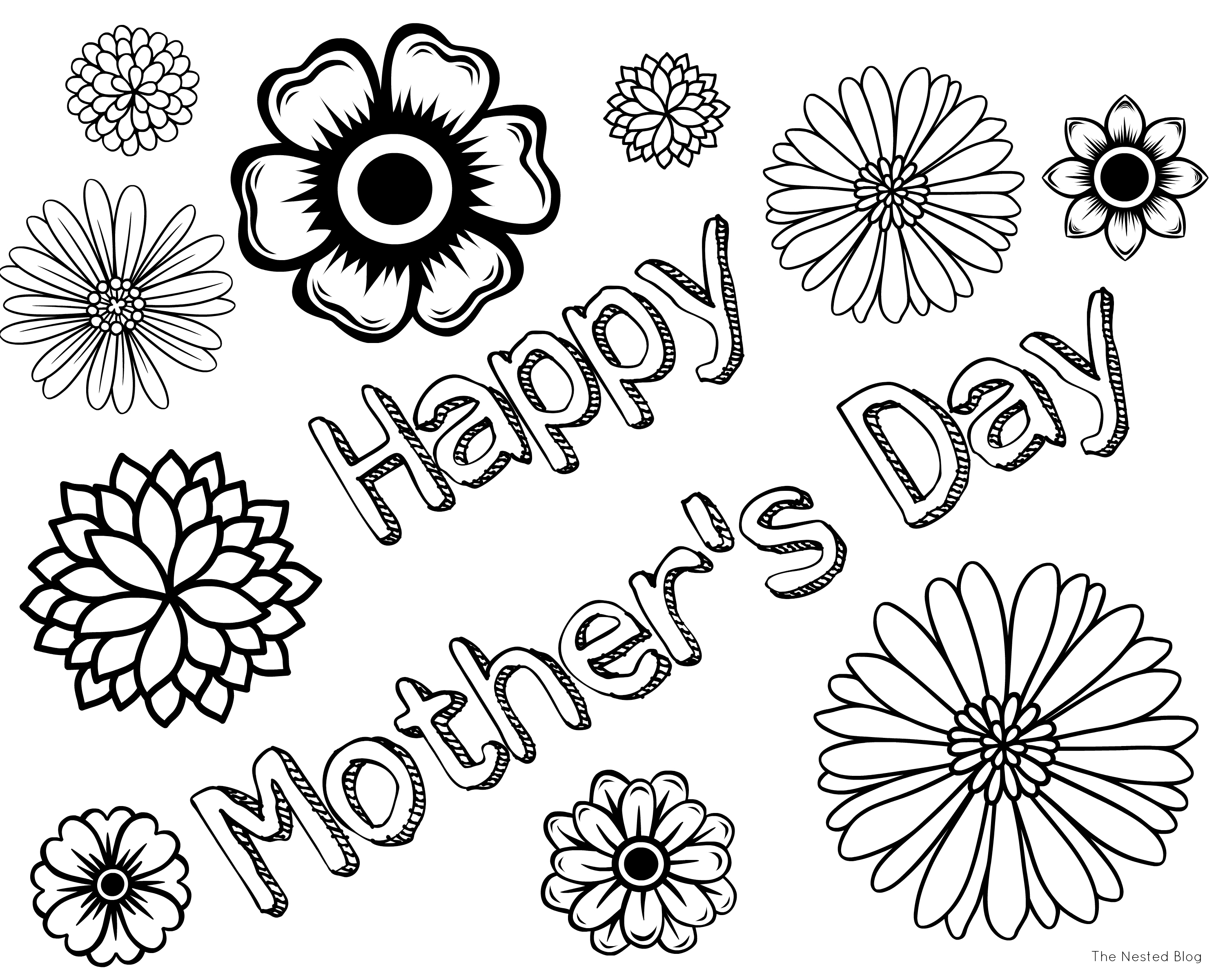 Mothers day colouring pictures to print - Mothers Day Coloring Pages