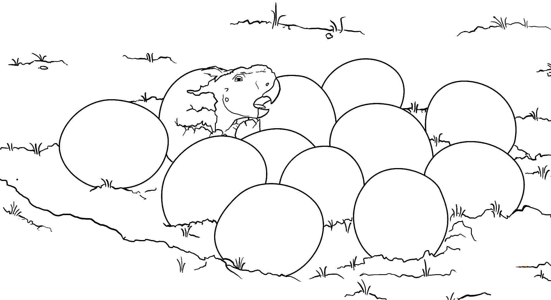Dinosaur Eggs Coloring Sheets | Coloring Pages