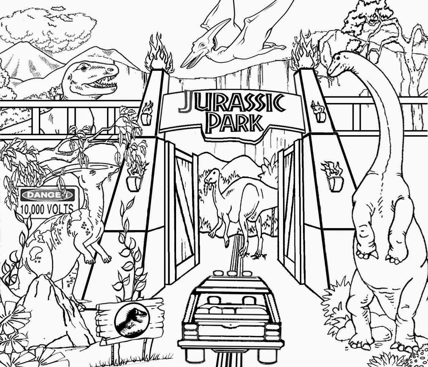 Childrens coloring dinosaur pages - Dinosaur Coloring Pages