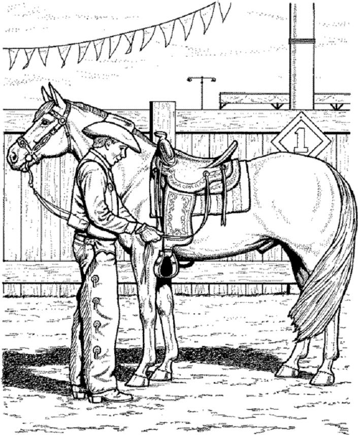 coloring book pages of horses | 30 Printable Horse Coloring Pages