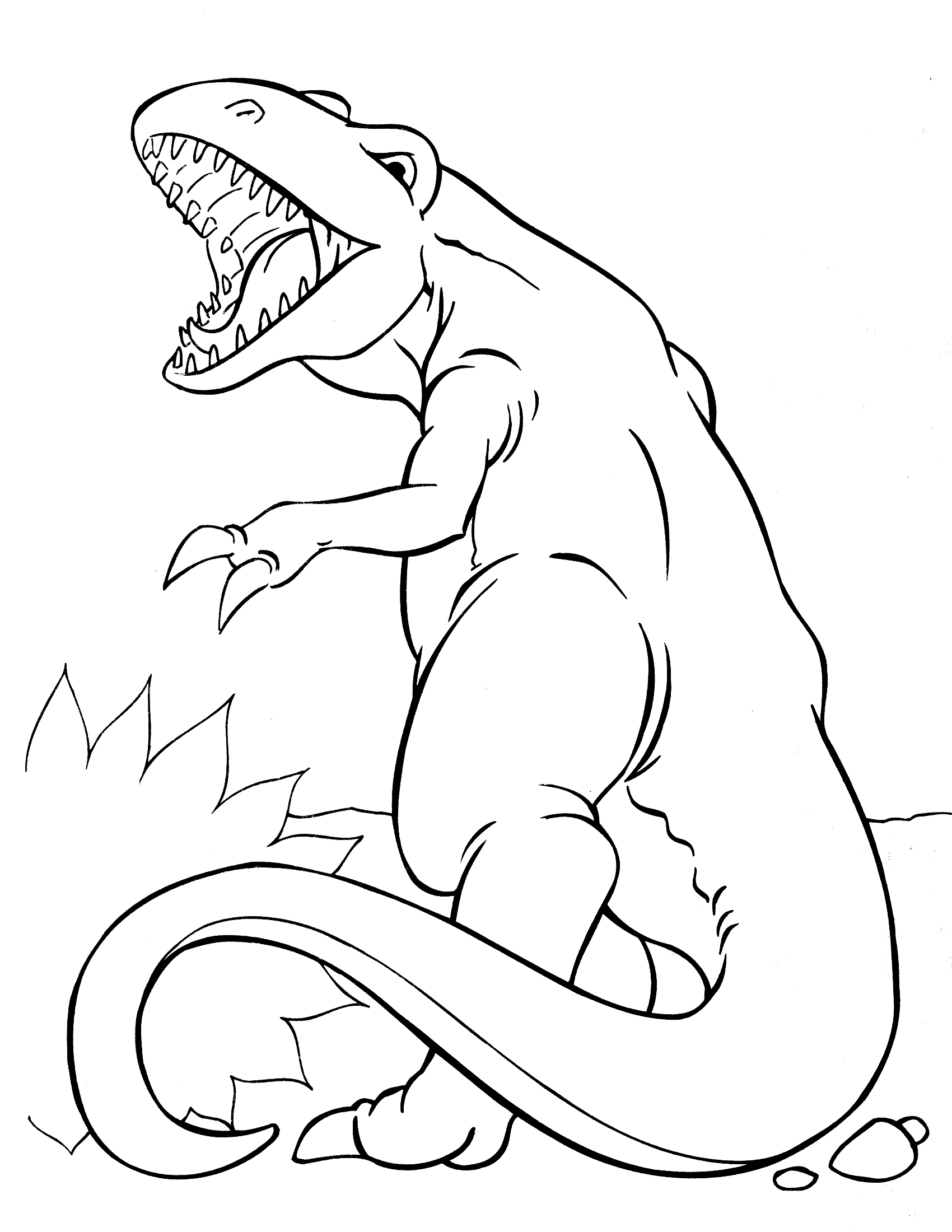 dinosaur fight coloring pages - photo#18