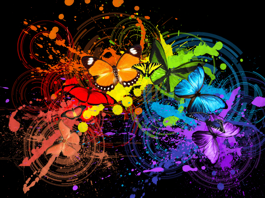 3g colourful butterfly wallpaper