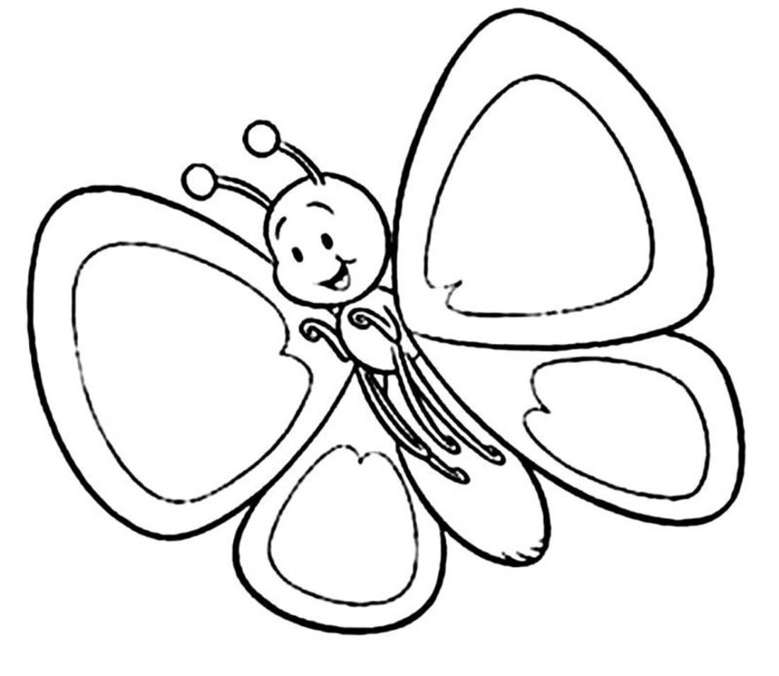 beautiful butterfly coloring page
