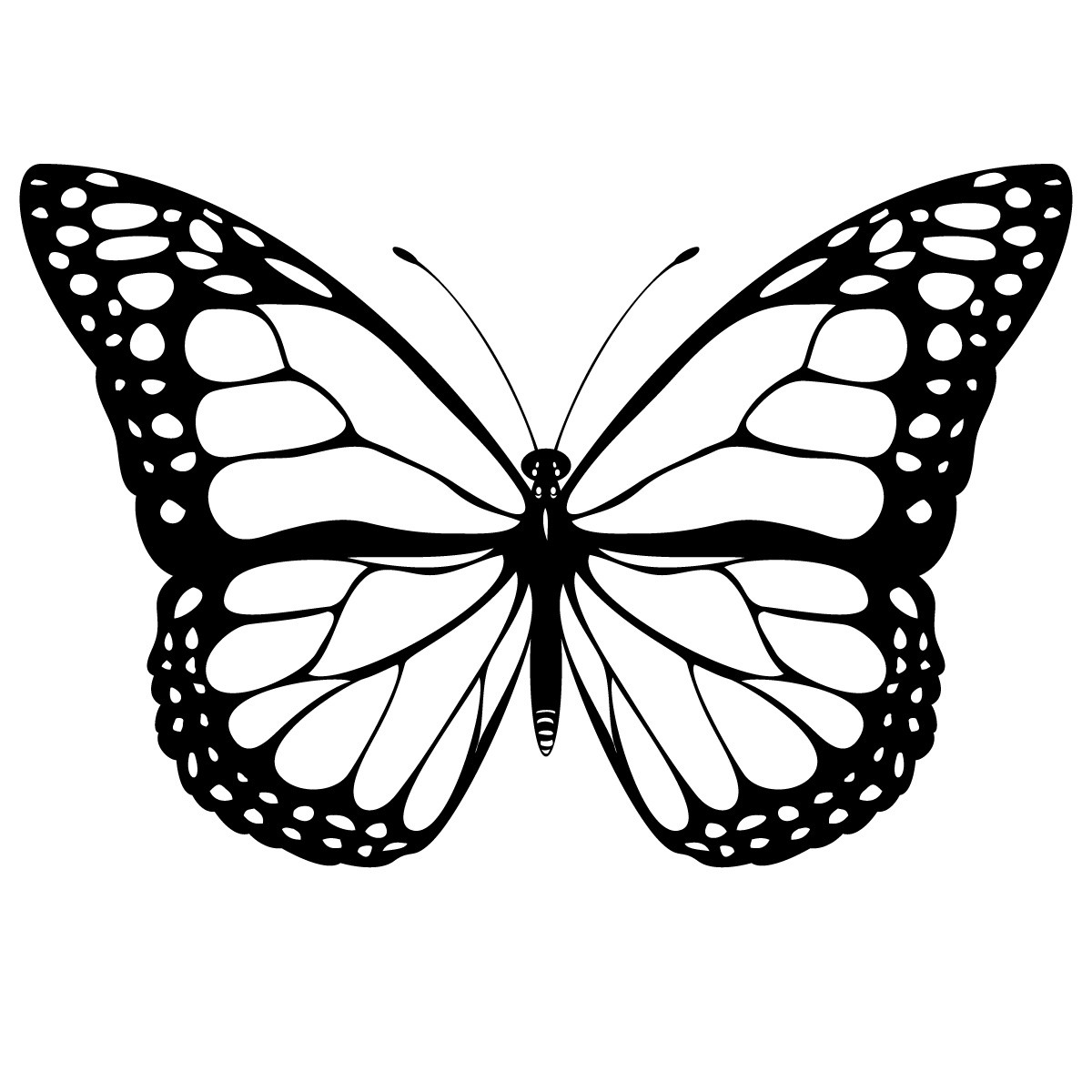Butterfly Printable Coloring Page for kids 2016