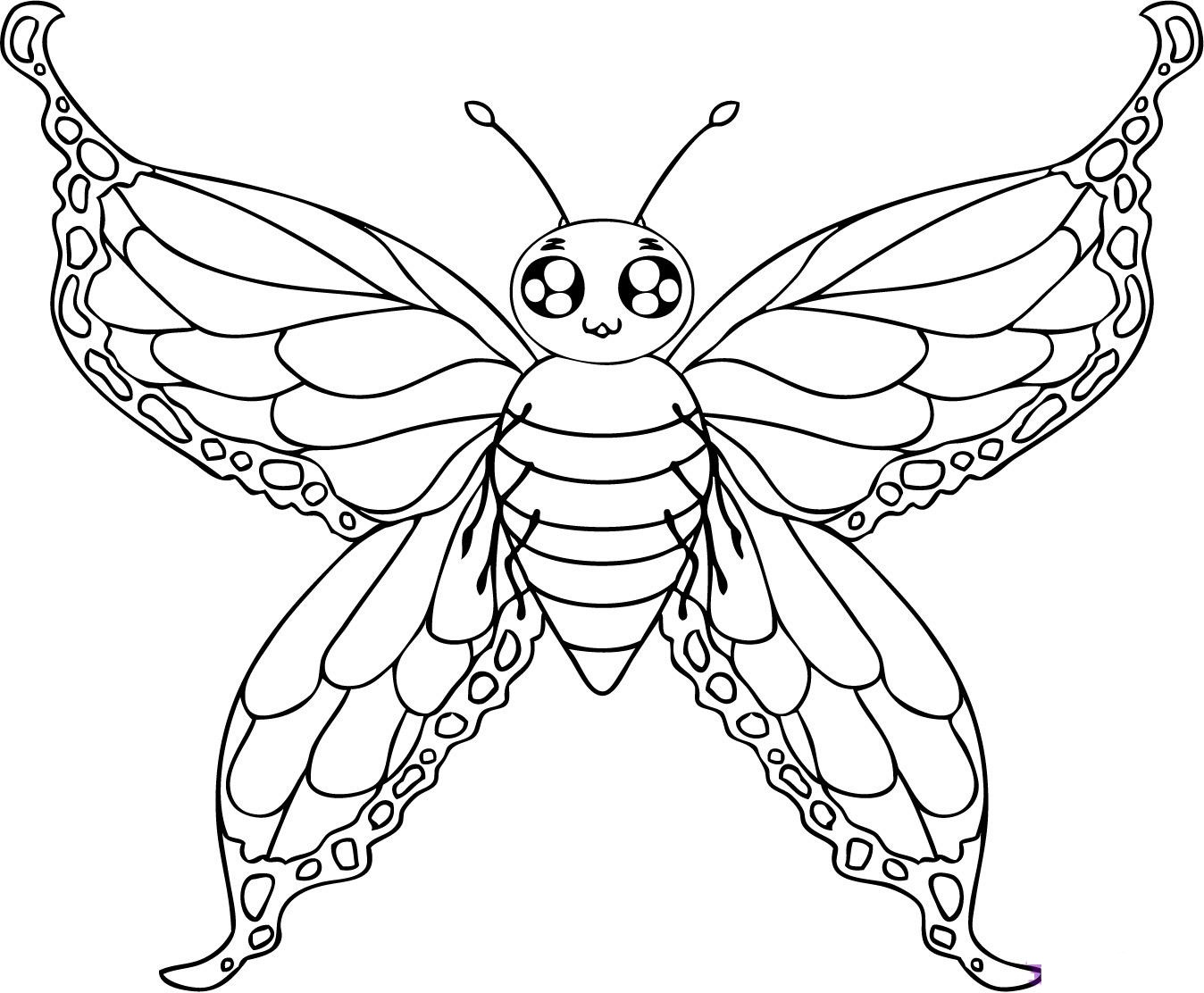 Butterfly coloring page printable - Zoes Butterfly Coloring Page