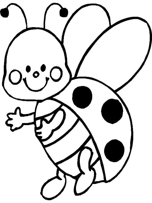 baby butterfly coloring page