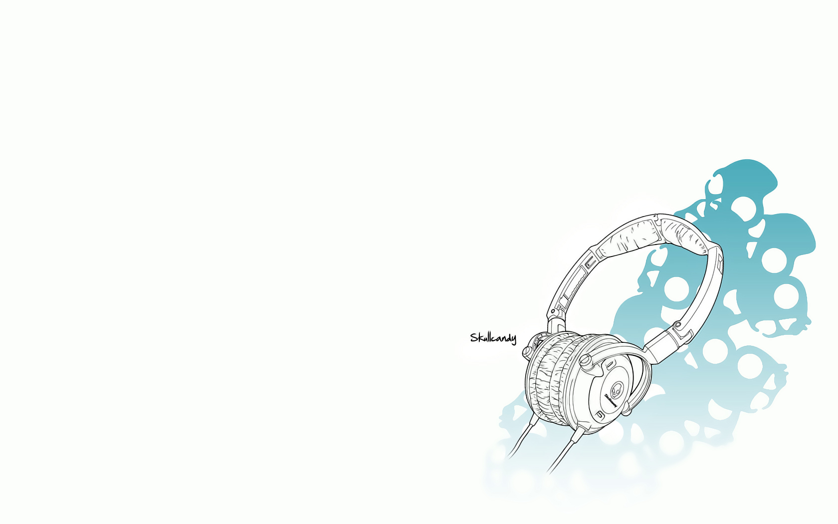 blue headphone music wallpaper