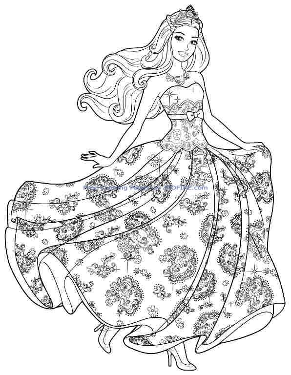 40 Barbie Coloring Pages For Kids