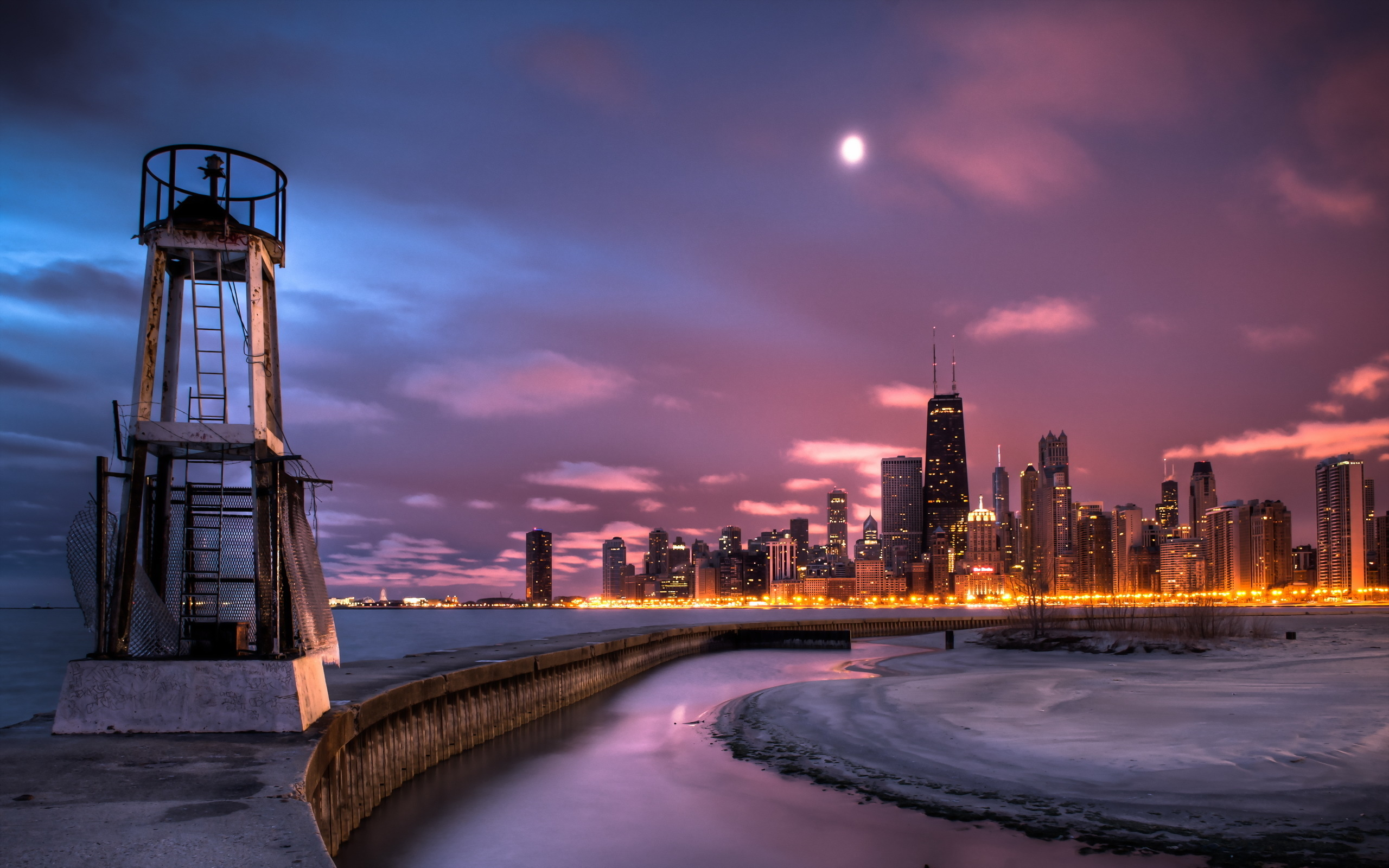 city view chicago wallpaper
