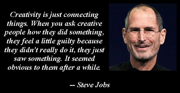 creativity is connecting steve jobs quote