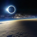 eclips of sun space wallpaper