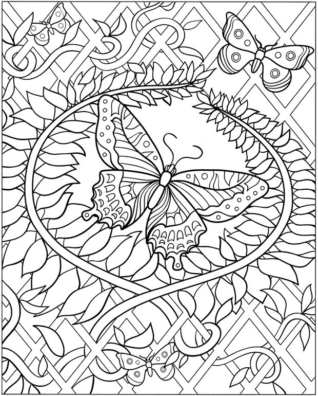 fantasy Butterfly Coloring Page For artists