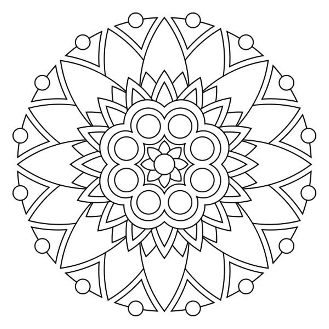 40 spiritual mandala coloring pages