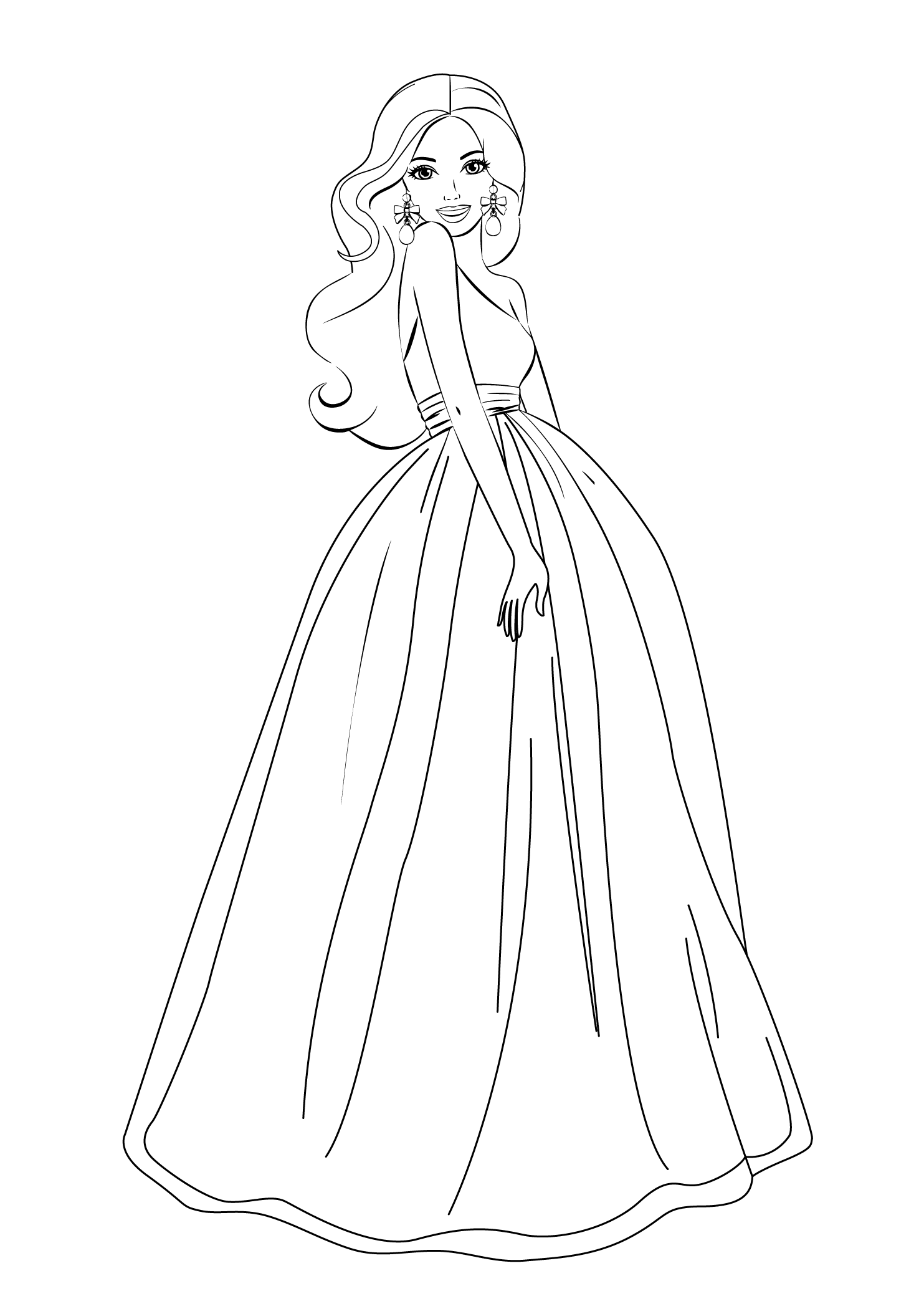 barbie coloring pages for free - photo#5