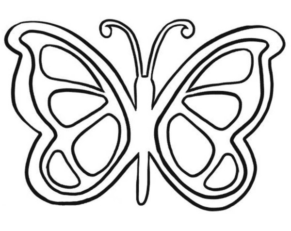 graphic butterfly coloring page