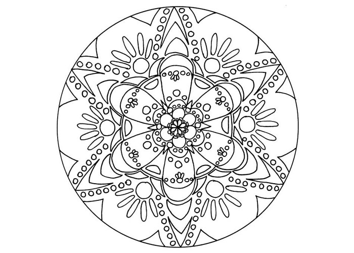 free mandala coloring book - Coloring Pages Mandalas Printable
