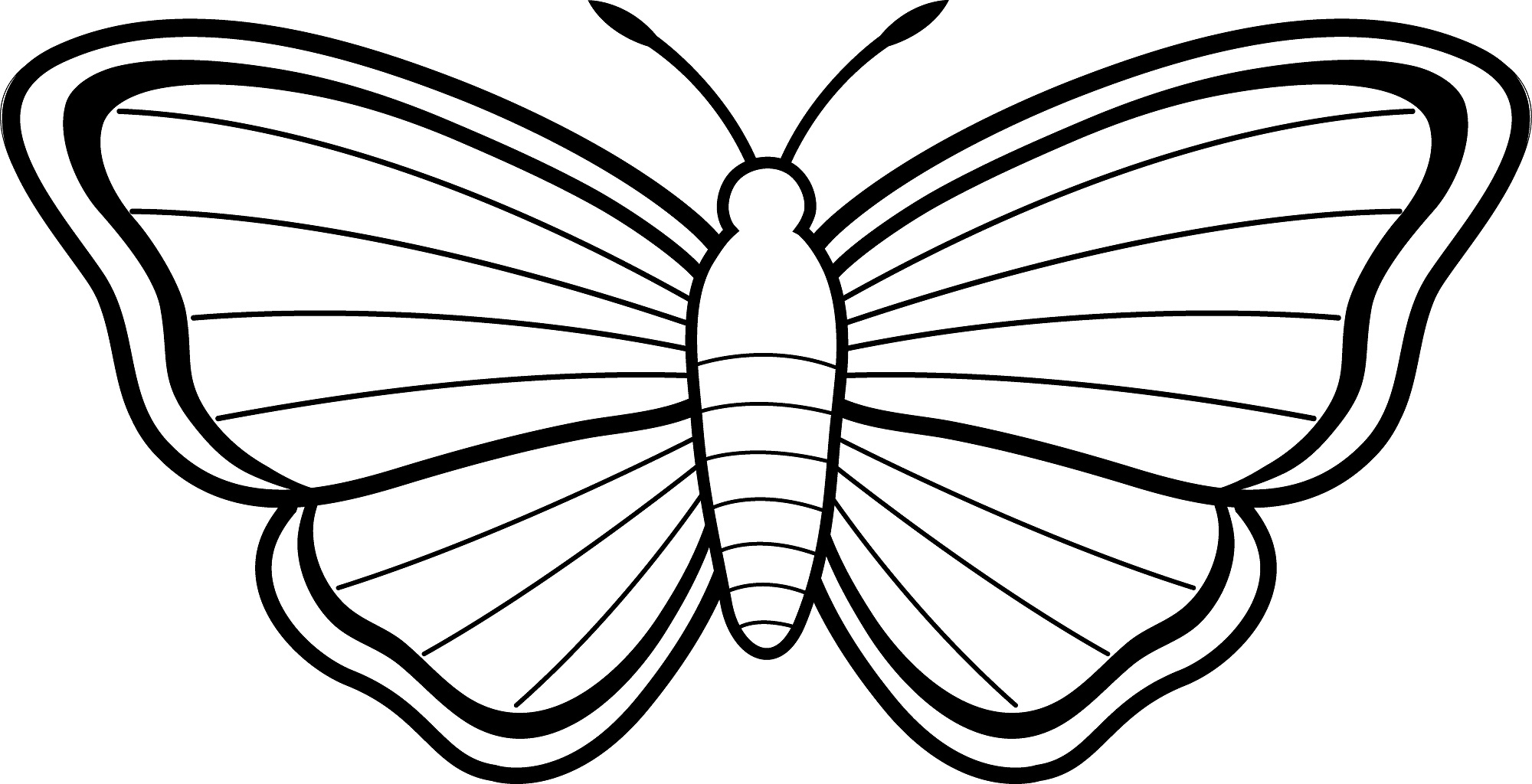 love the Butterfly Coloring Page