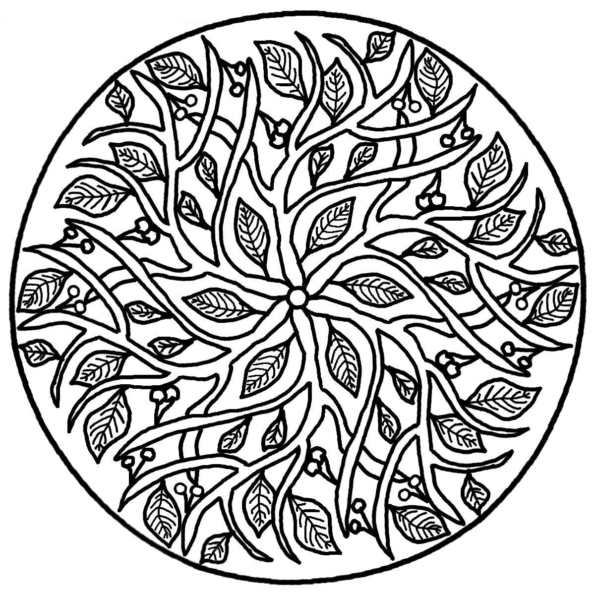 Colouring in pages mandala - Free Mandala Coloring Book