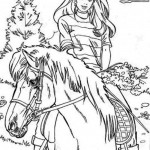 sweet and nice horse coloring page