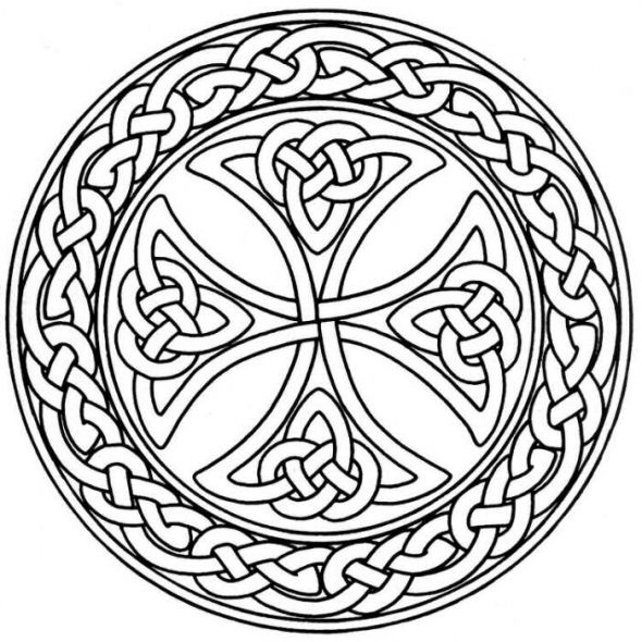 Celtic Mandala Coloring Pages 40 Spiritual