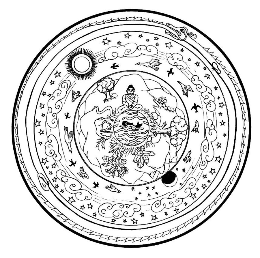 Wolf mandala coloring pages - Colouring Pages Mandalas Sweet Christmas Mandala Coloring Page