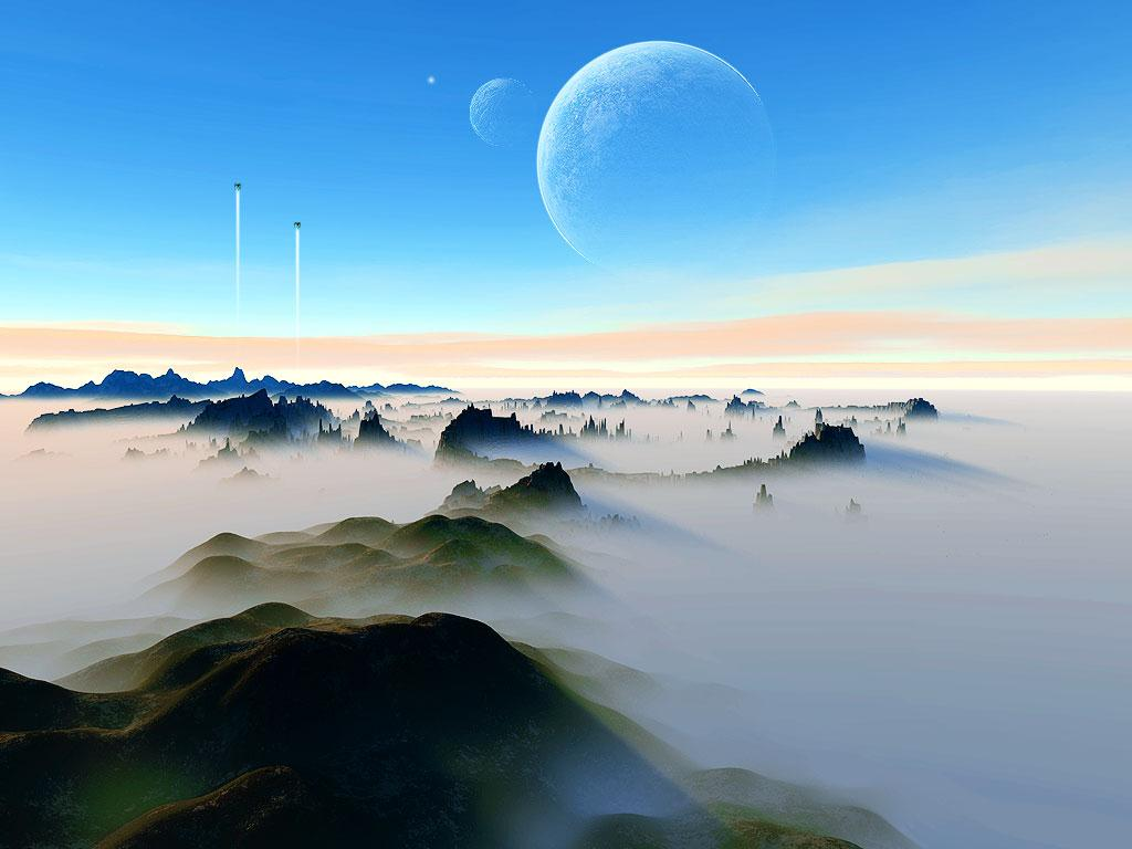 serene space hd wallpaper