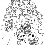 wedding doll free coloring page for girls