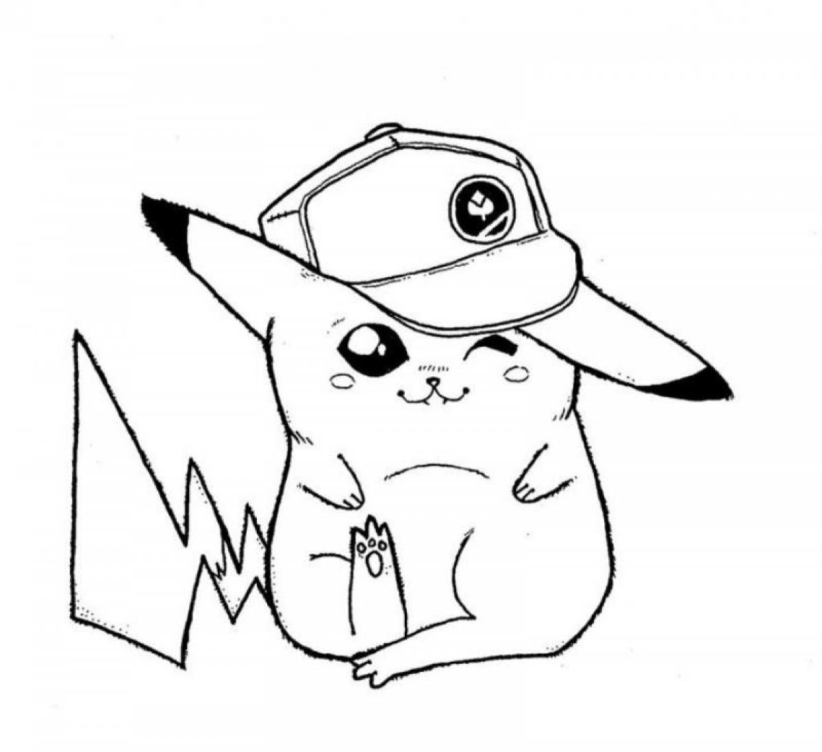 cute pokemon pikachu coloring pages - photo#28