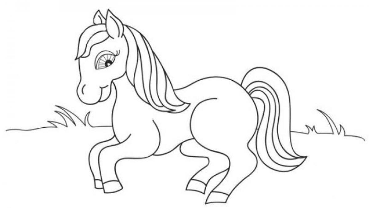 Horse-Animal-Coloring-Pages-For-Preschool