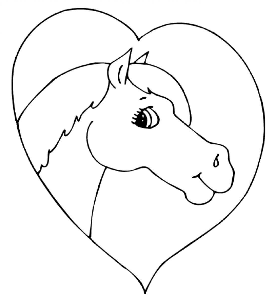 Horse-Heart-Preschool-Coloring-Page