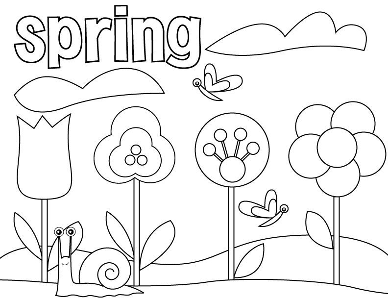 pre school coloring pages spring - Pre K Coloring Worksheets
