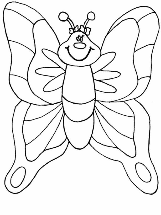 butterfly pre school coloring pages