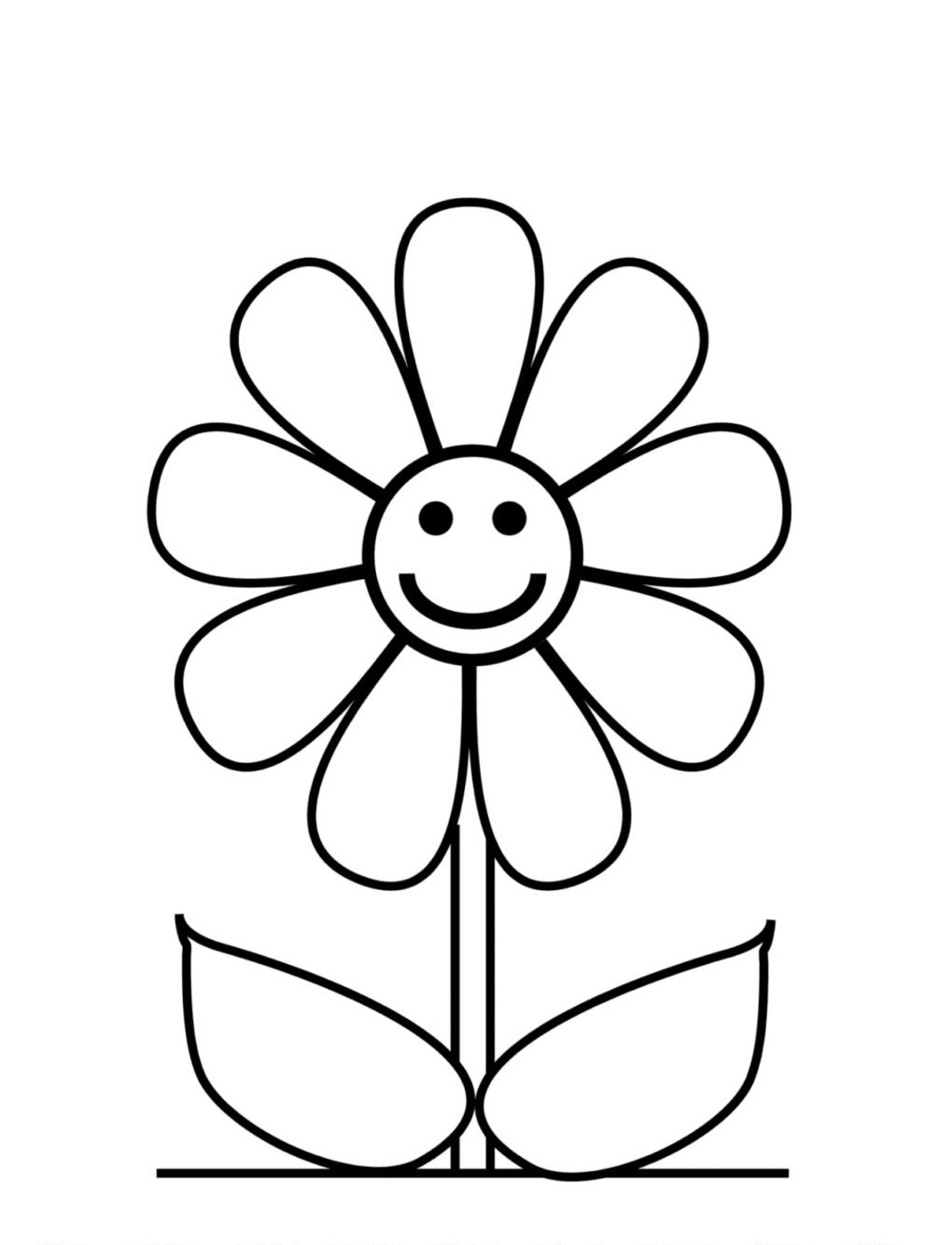 colouring pages of flowers : Flower Coloring Pages For Kids