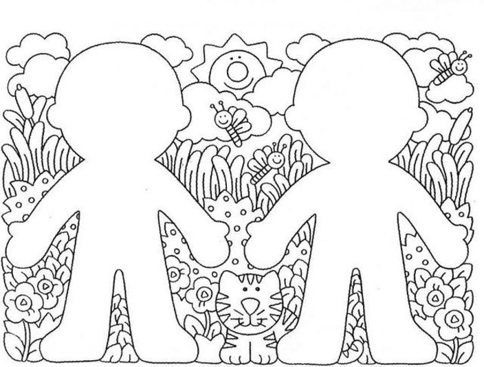 pre school coloring pages