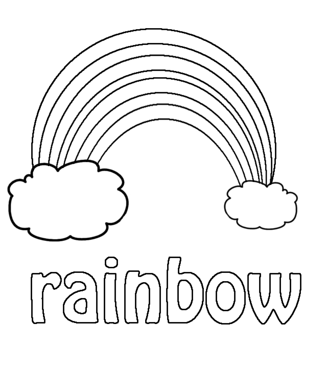 30 preschool coloring pages for kids - Rainbow Coloring Pages For Kids Printable