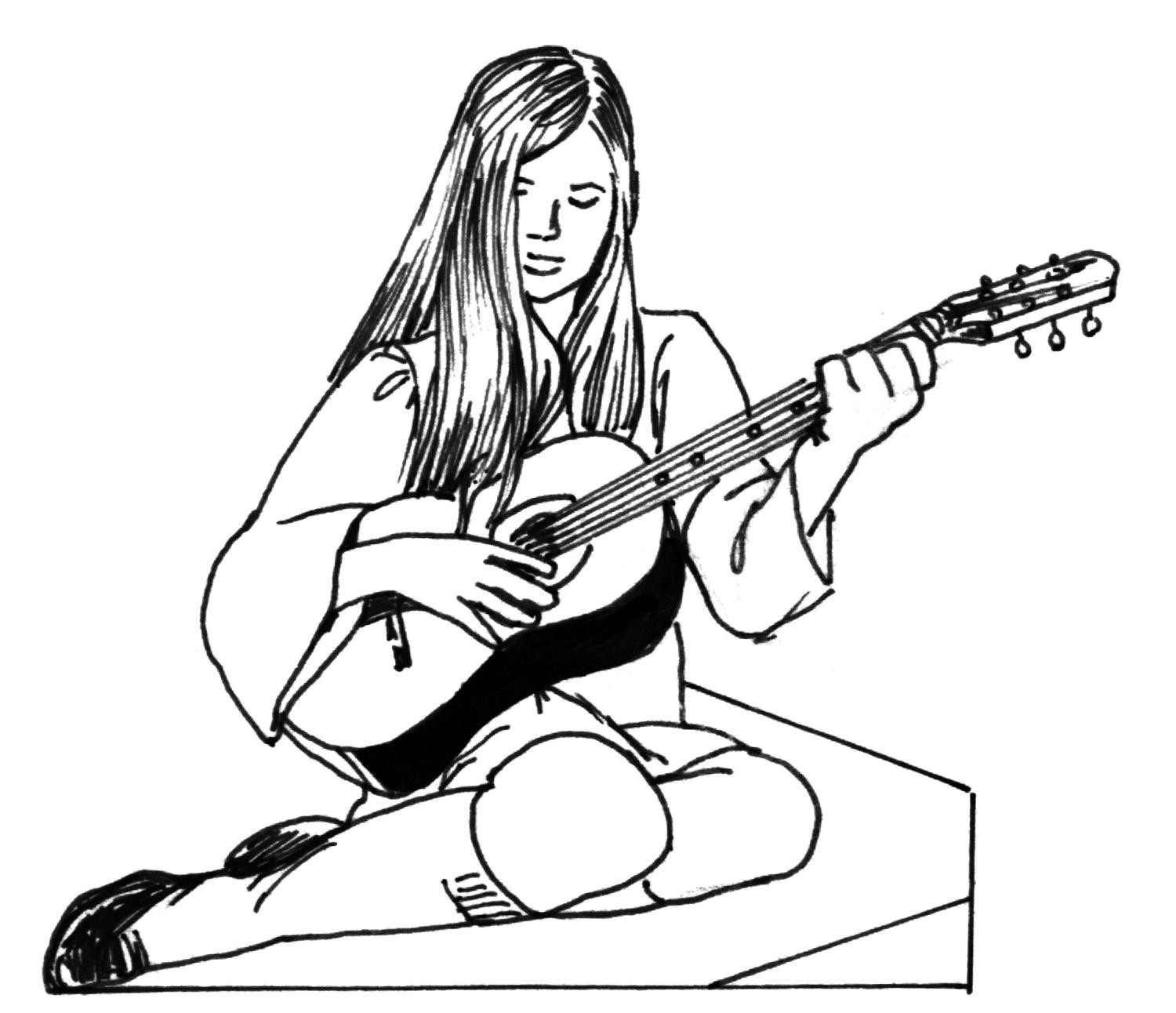 Coloring-pages-girls-guitar
