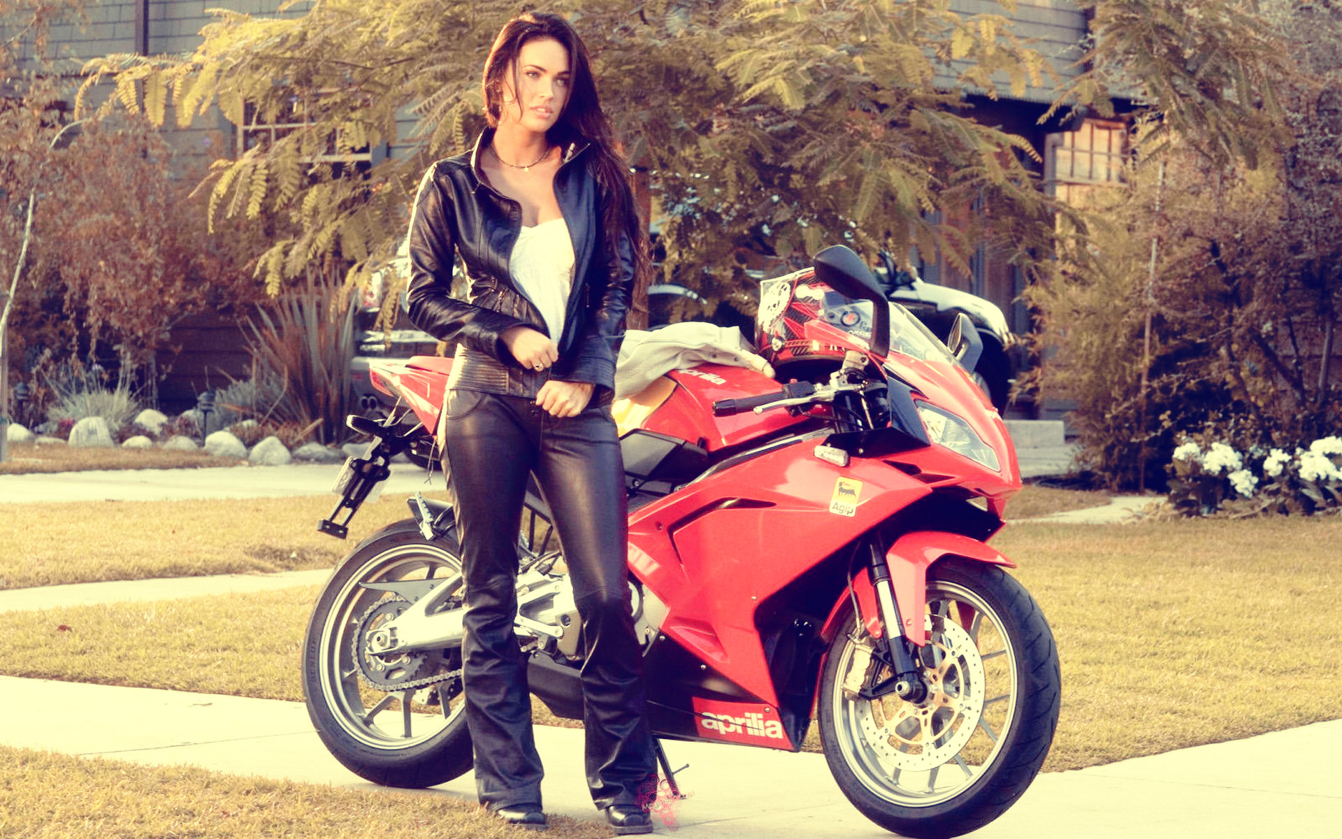 Girl-With-Bmw-Bike-wallpaper