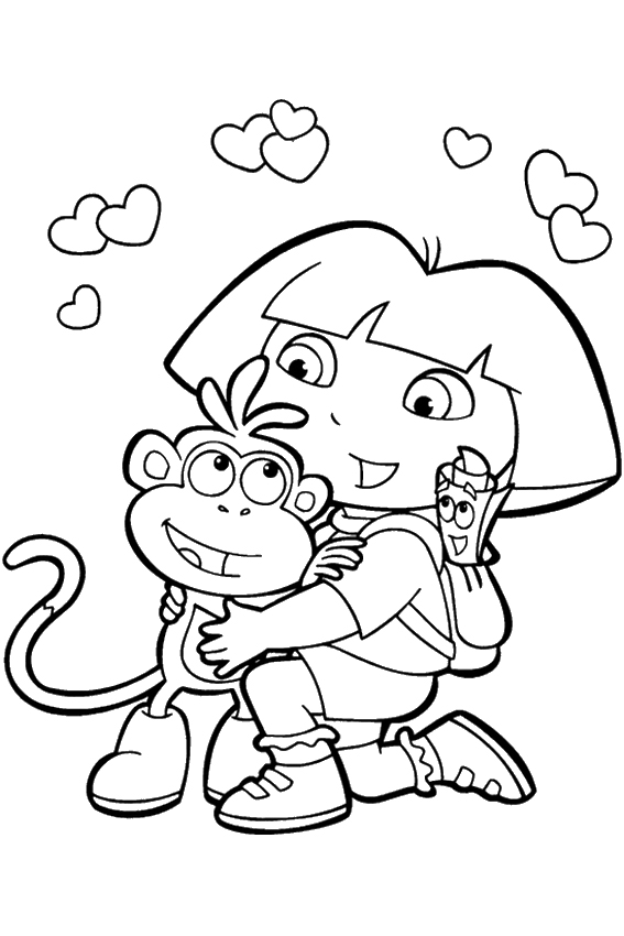 coloring-pages-for-girls-dora-and-friends